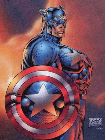 Rob Liefeld's bad Captain America drawing. Or was it?!?