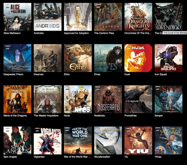Comixology offers a variety of French publications in English