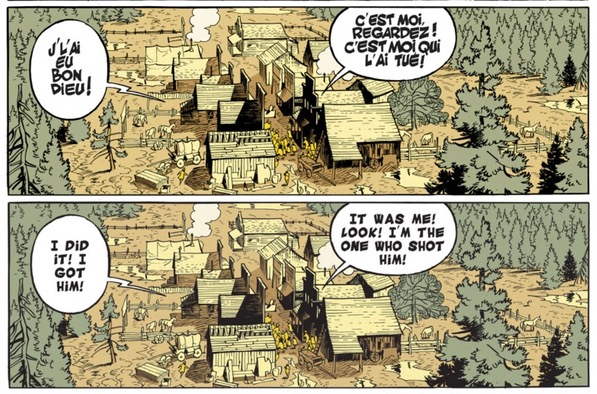 The Man Who Shot Lucky Luke French vs English shouting lettering