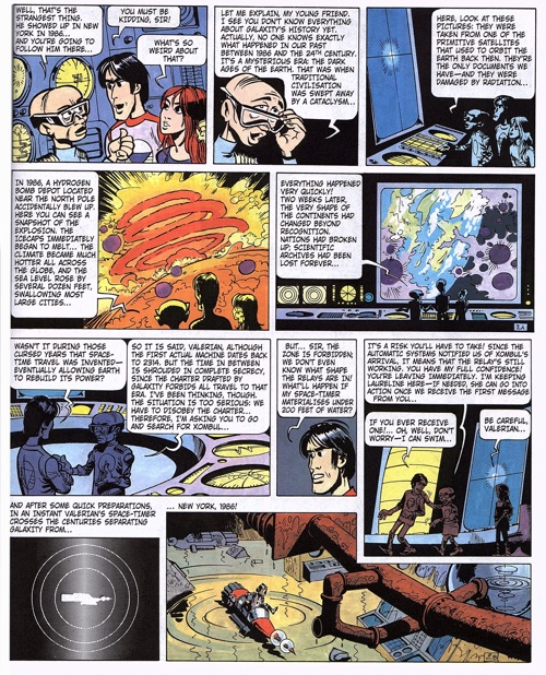 Valerian page 3 has a lot of lettering, covering 80% of the page