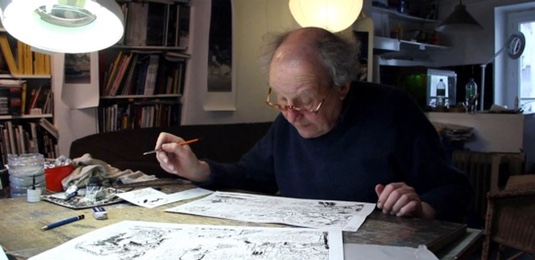 Jean-Claude Mezieres draws on video on-line