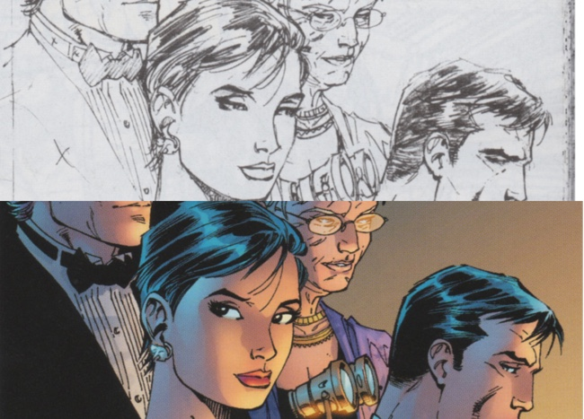 Comparing Jim Lee's pencil hair with Scott Williams' ink hair