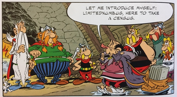 asterix meets the census taker, Limitednumbus