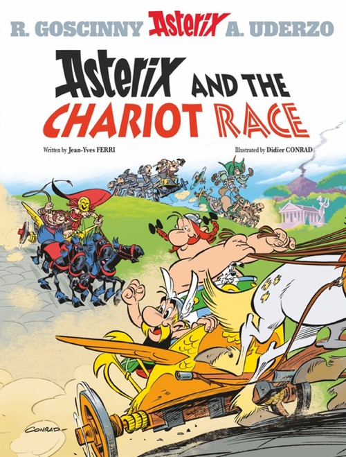 Asterix and the Chariot Race cover by Didier Conrad