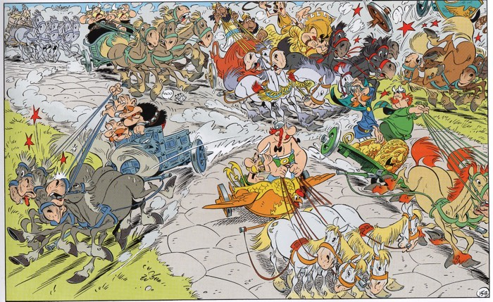 Asterix and the Chariot Crashes, am I right? Didier Conrad has to draw a lot of horses here.