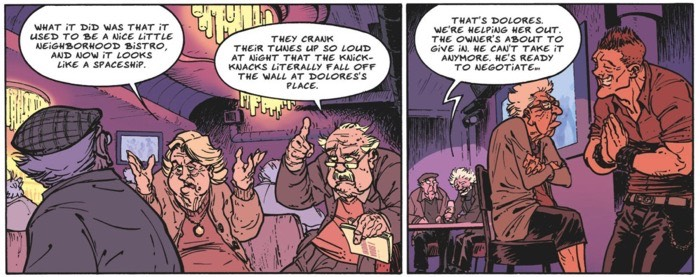 The old geezers take over a bar and hold it hostage