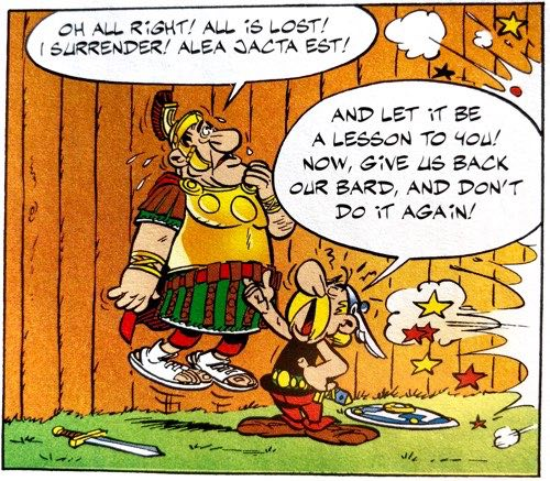 """""""Alea Jacta Est"""" from Asterix the Gladiator, v4 of the Asterix series"""