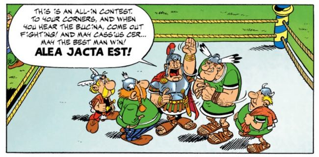 Alea Jacta Set yet again, this time in Asterix and the Big FIght