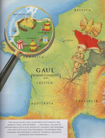 The map of Gaul that every Asterix book begins with