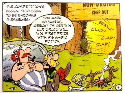 Asterix thinks Getafix will win Druid of the Year because of the Magic Potion
