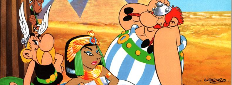 Asterix and Cleopatra, volume 6, cover detail by Albert Uderzo