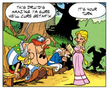 asterix v7 Miss Bicarbonatofsoda, assistant to the Druid Psychoanalytix