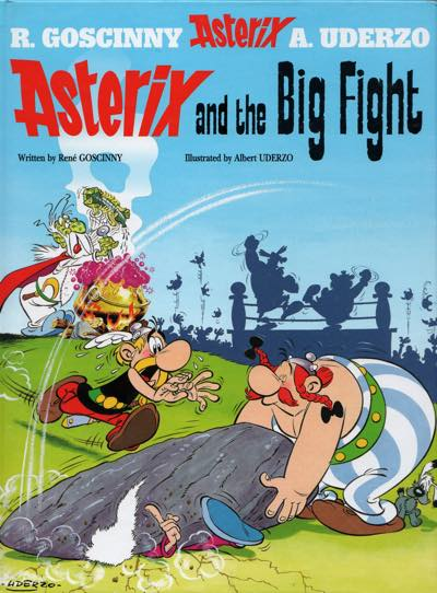 Asterix and the Big Fight, volume 7, cover by Albert Uderzo