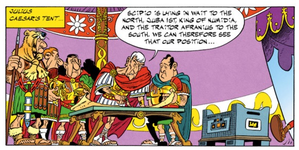 Caesar plots against Pompey's forces in Northern Africa