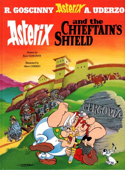 """""""Asterix and the Chieftain's Shield"""" cover by Albert Uderzo"""