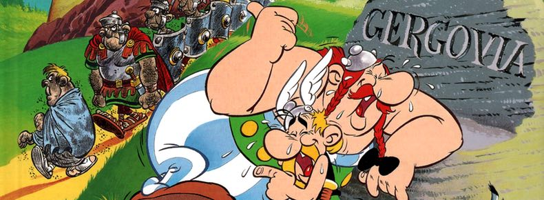 Asterix and the Chieftain's Shield cover detail by Albert Uderzo