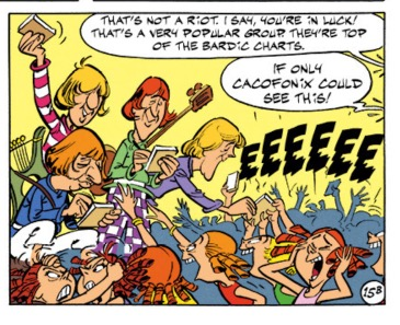 The Beatles appear in Asterix in Britain, of course