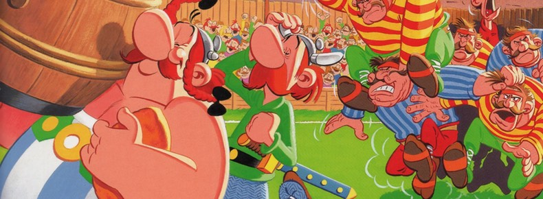 Asterix in Britain v8 cover detail by Albert Uderzo