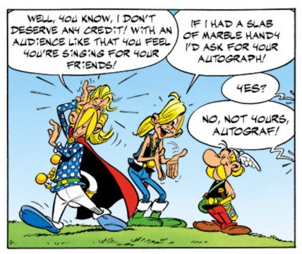 Asterix and the Normans' Autograf