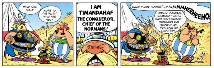 Asterix and the Normans Chief Timandahaf