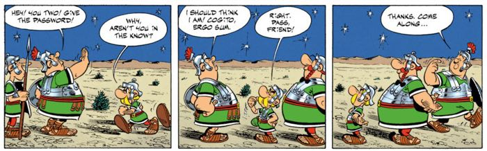 Asterix the Legionary gag straight out of a Bugs Bunny/Daffy Duck short