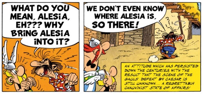 Nobody knows where Alesia is in Asterix's world