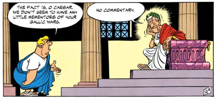 Caesar has no commentary on the Gauls