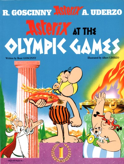 Asterix at the Olympics cover, the 12th volume in the series by Rene Goscinny and Albert Uderzo