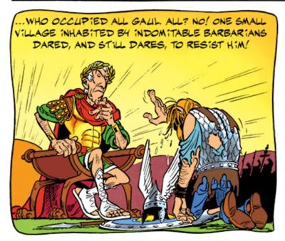"""Vercingetorix lays down his arms to Caesar in """"Mansions of the Gods"""""""