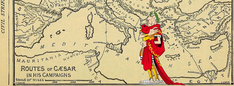 Caesar's Commentaries track his campaign to capture all of Gaul
