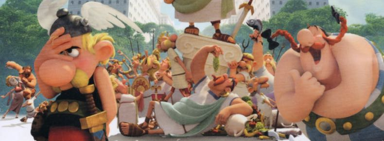 Asterix the Mansions of the Gods movie blu-ray cover detail