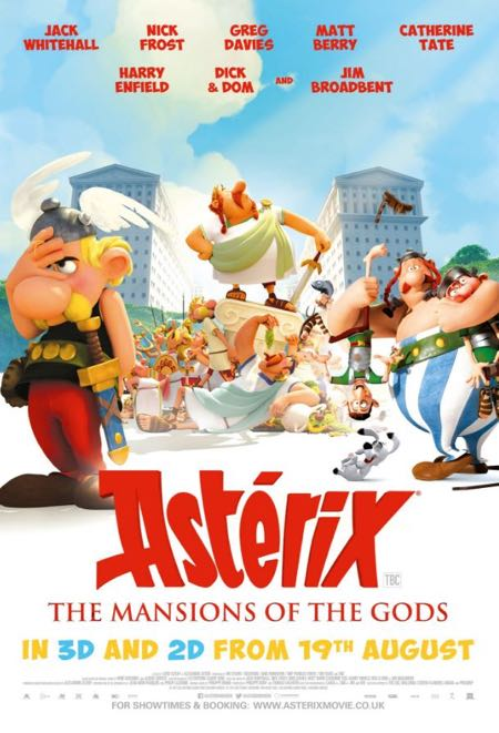 Asterix and the Mansions of the Gods movie posters (British release)