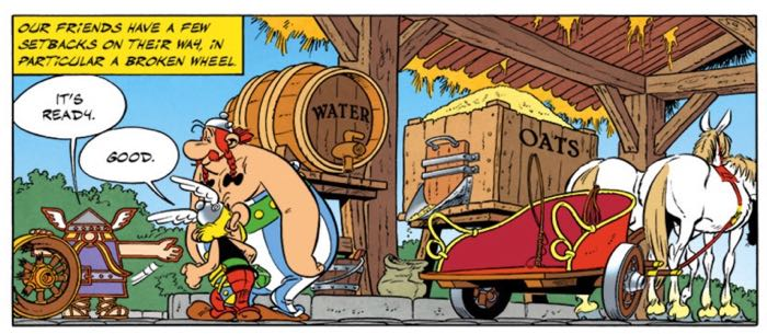 The Antar gas guy in Asterix