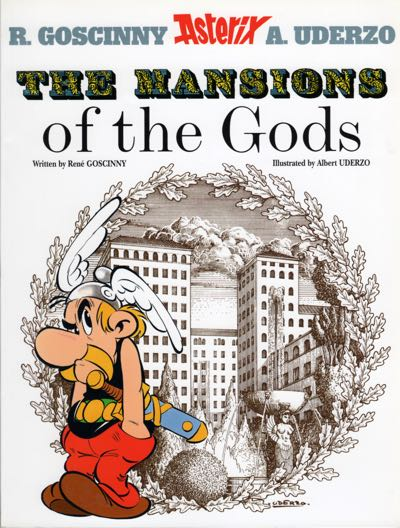 """Asterix v17, """"The Mansions of the Gods"""" cover"""