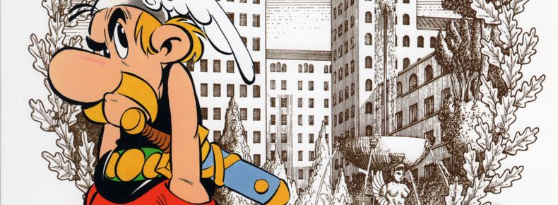 """Asterix v17, """"Mansions of the Gods"""" cover detail"""