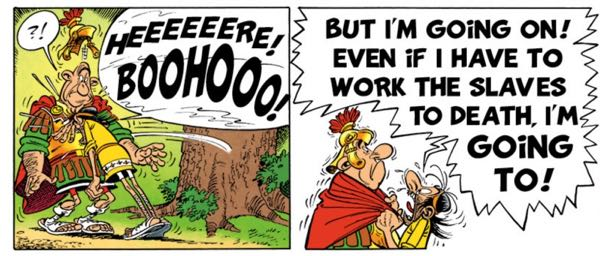 Uderzo goes to town in drawing the mental breakdown of Squaronthehypotenus