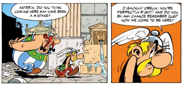 Asterix cues the flashback