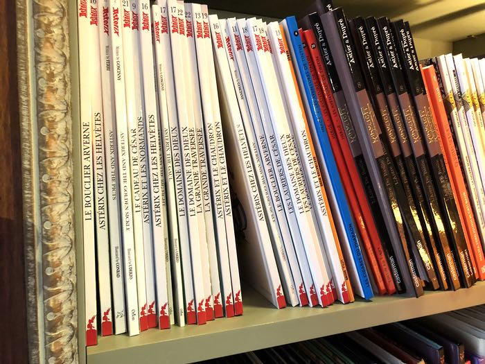 Asterix books at The Albertine French bookstore in New York City