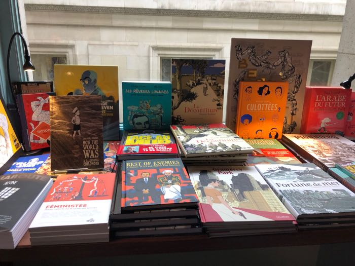 Bandes Dessinées display at The Albertine