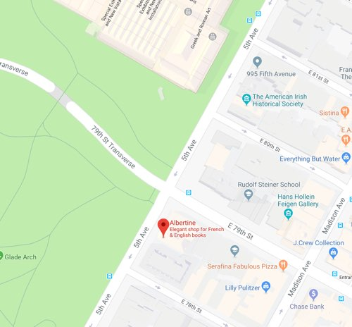 The Albertine on a Google Map in New York City