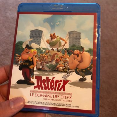 Asterix The Mansions of the Gods Blu-ray case