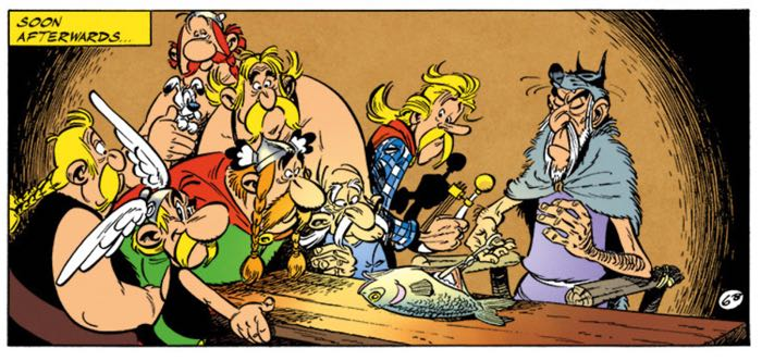 Asterix re-enacts a Rembrandt painting