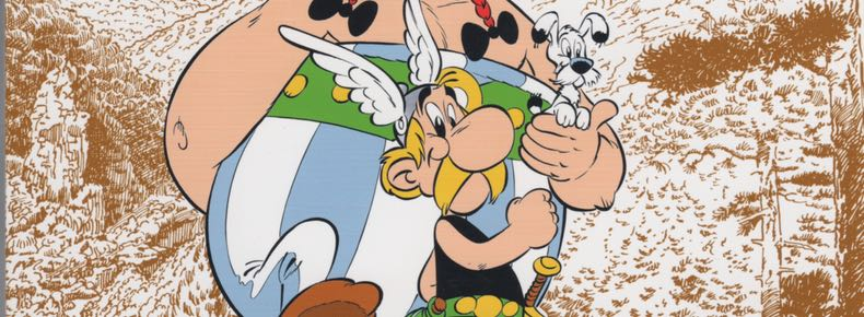 Asterix in Corsica cover detail by Albert Uderzo