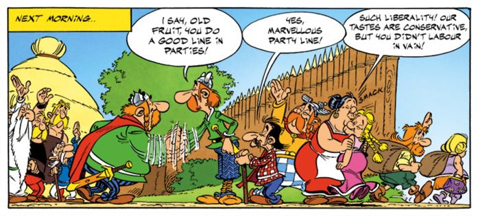 It's an Asterix reunion with characters from previous volumes