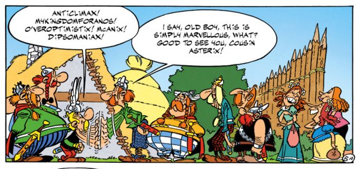 It's a line up of old friends greeting Asterix