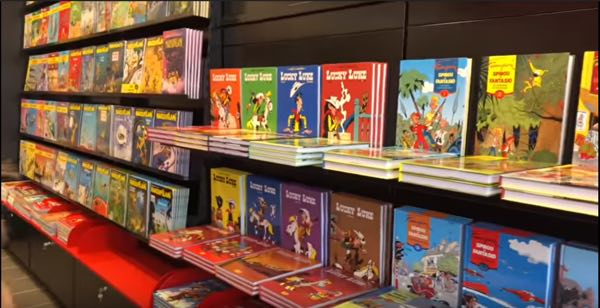 A small part of the Parc Spirou bookstore