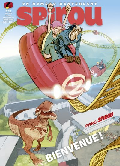 Parc Spirou themed issue of Spirou, with a Jose Luis Munuera cover