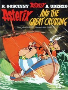 Asterix and the Great Crossing cover by Albert Uderzo