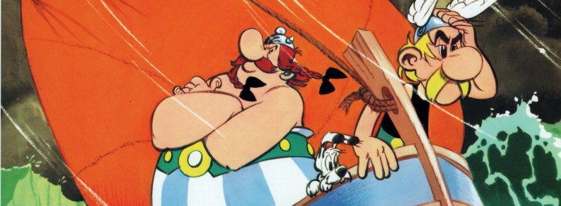 Asterix and the Great Crossing cover detail by Albert Uderzoq