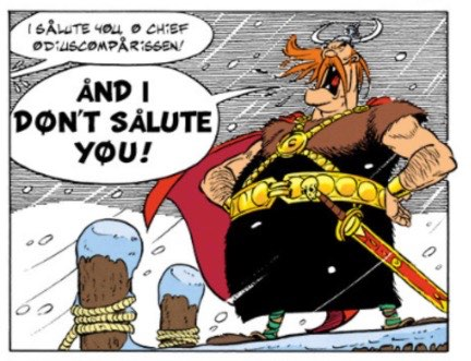"""Odiuscomparissen from """"Asterix and the Great Crossing"""""""